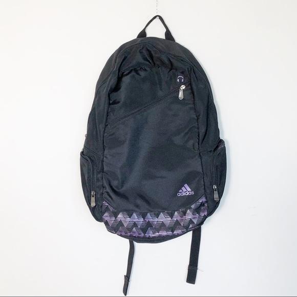 Adidas Climacool Black & Purple School Athletic Backpack